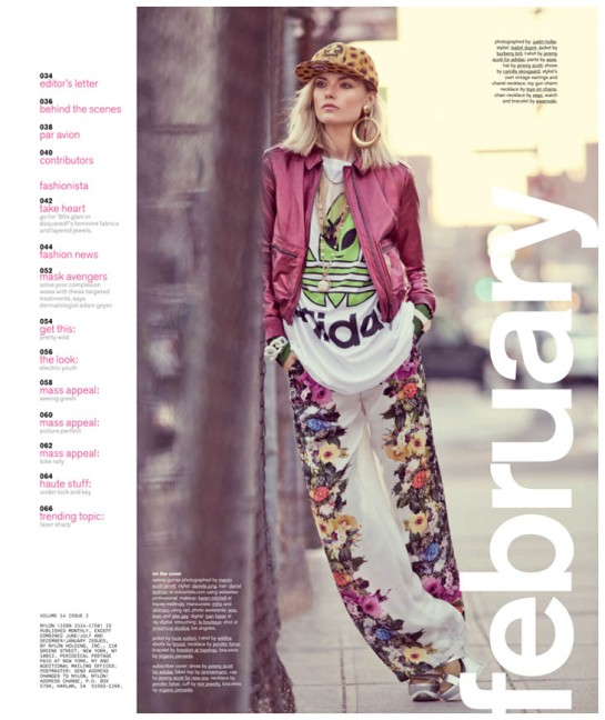 FARAH HOLT SHINES IN URBAN STYLE FOR NYLON'S FEBRUARY 2013 ISSUE BY JUSTIN HOLLAR........