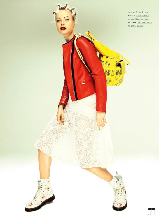 DASHA ZHAROVA IS A 90′S CHICK FOR SNC MAY 2013 BY NIKOLAY BIRYUKOV.........